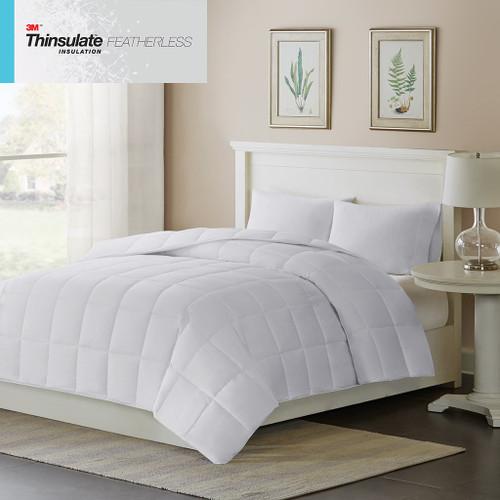White Warmer 3M Featherless Insulation 600-FP Down Alternative Comforter (Warmer-White)