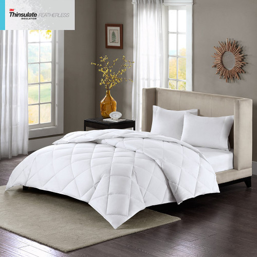 White Maximum 3M Featherless Insulation 600-FP Down Alternative Comforter (Maximum Warmth-White)