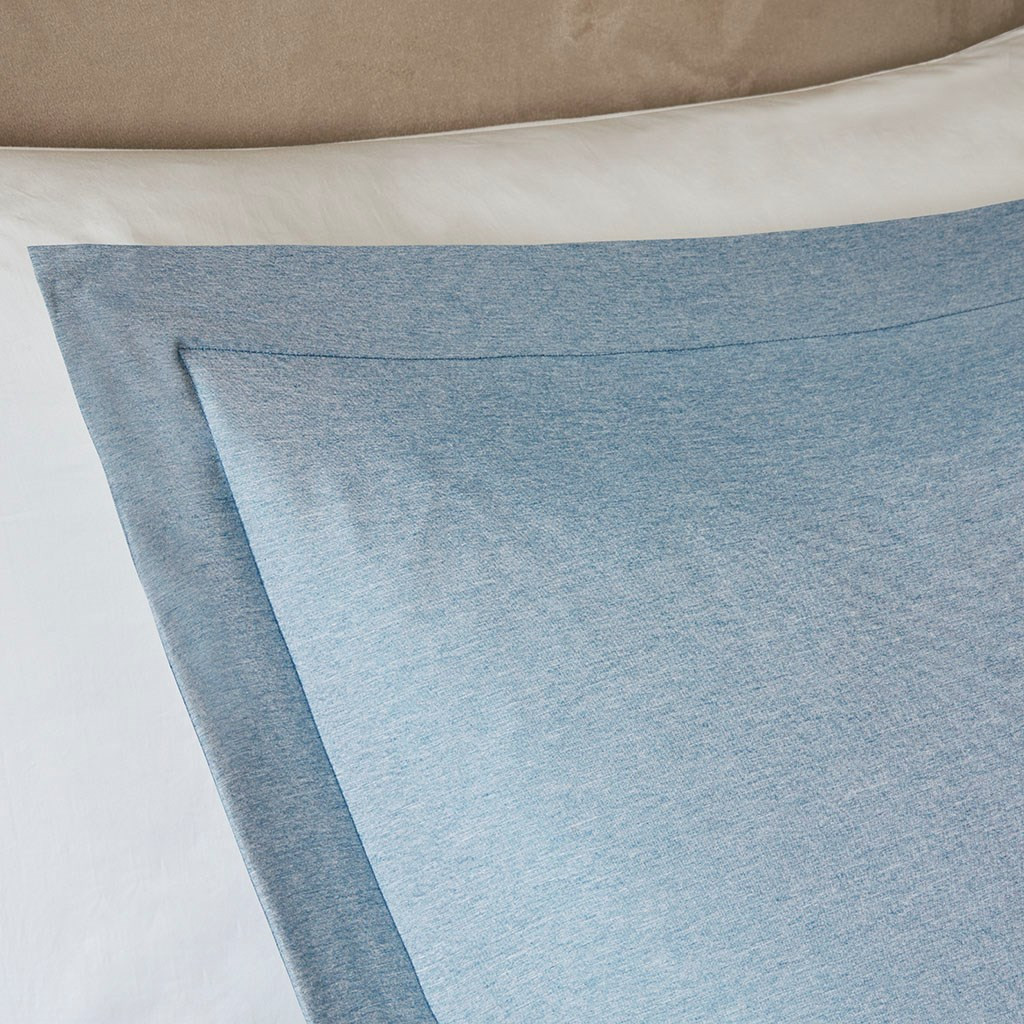 Blue & White Reversible Striped Down Alternative Comforter AND Shams (Hayden-Blue)