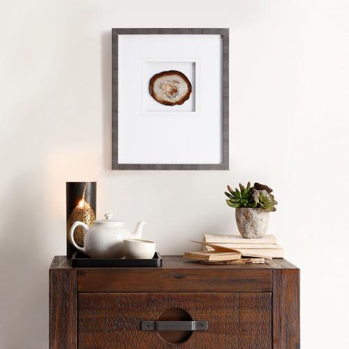 Natural Agate Natural Stone Framed Graphic (Natural Agate -Natural-Art )