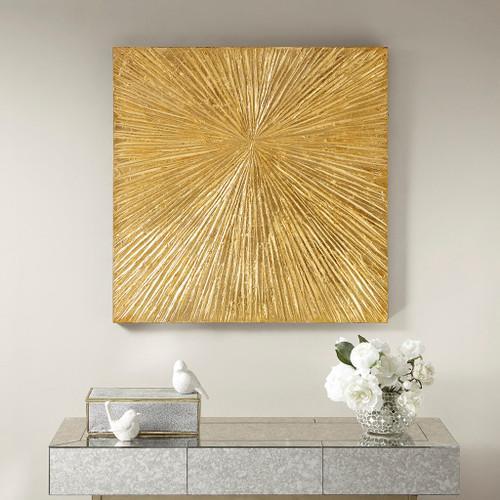Edit a Product - Sunburst Gold Resin Dimensional Palm Box (Sunburst -Gold-Art )