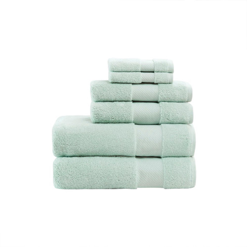 Turkish Seafoam 6 Piece Bath Towel Set (Turkish -Seafoam-Towel )
