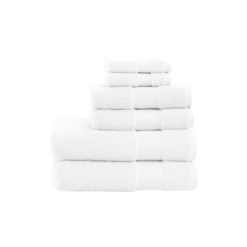 Turkish White 6 Piece Bath Towel Set (Turkish -White-Towel)