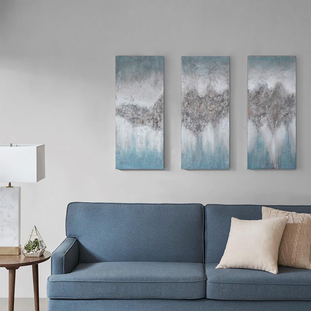 Luminous Blue Hand Painted Canvas (Luminous -Blue-Art)