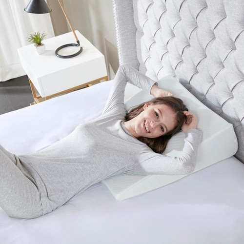 Memory Foam Wedge Pillow w/Removable Zippered Cover (Memory Foam-Pillow)