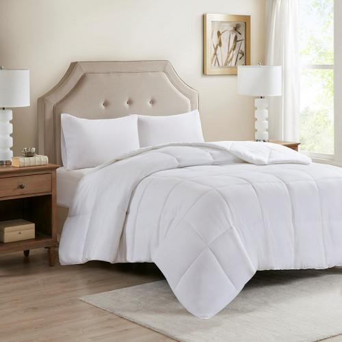 300TC Cotton Cover Tencel Filled Down Alternative Comforter (Cotton Tencel-White)