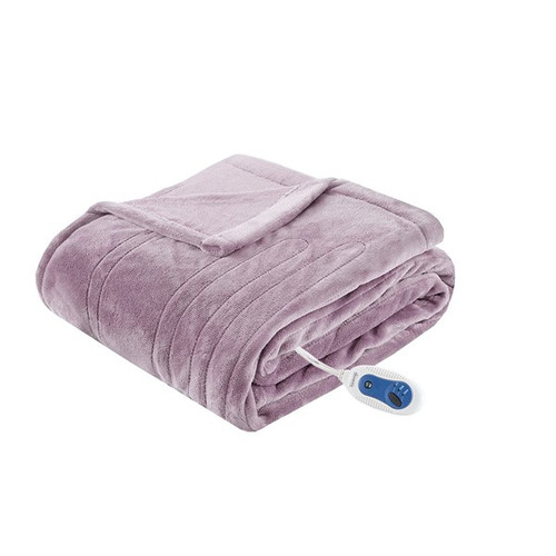Heated Plush Throw Lavender (Heated Plush-Lavender-Throw)