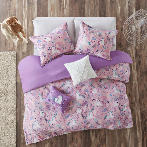 Lola Pink Cotton Printed Duvet Cover Set (Lola -Pink-Duv)