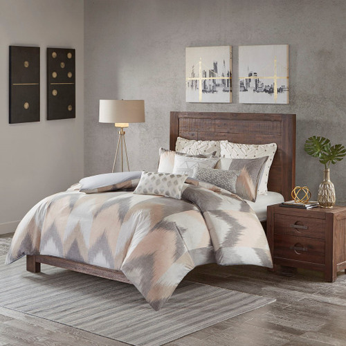 Alpine Blush Cotton Duvet Cover Mini Set (Alpine -Blush-Duv)