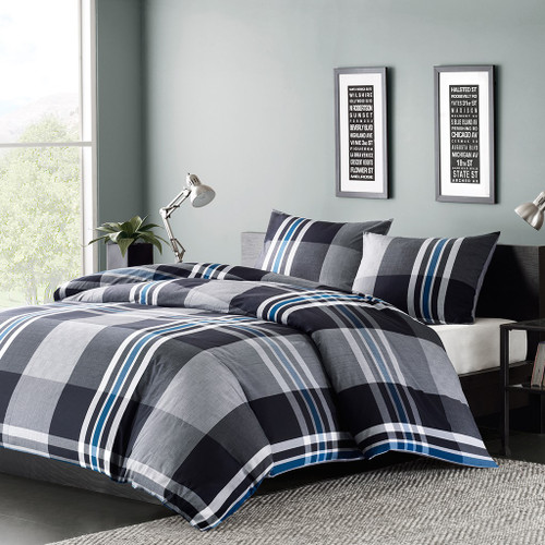 Nathan Grey Duvet Cover Mini Set (Nathan- Grey-Duv)