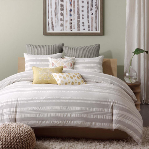 Lakeside Grey Duvet Cover Mini Set (Lakeside -Grey-Duv)