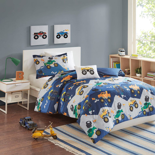 Nash Blue Printed Comforter Set (Nash Blue-Comf)