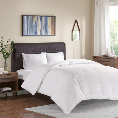 Extra Warmth White Oversized 100% Cotton Down Comforter (Extra Warmth -White-Comf)