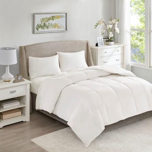 All Season Warmth White Oversized 100% Cotton Down Comforter (All Season Warmth -White-Comf)