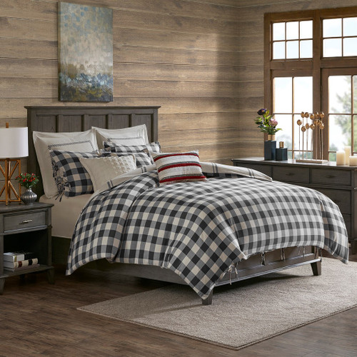 Willow Oak Grey Reversible Cotton Comforter Set (Willow Oak -Grey-Comf)