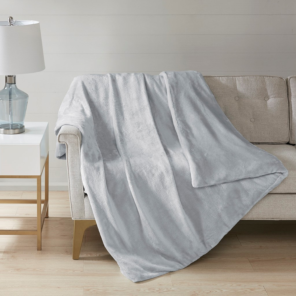 "Plush Weighted Grey Blanket 60x70""-12lbs (Plush Weighted-Grey-Blanket-12)"