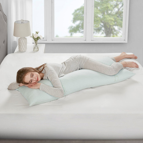 Bamboo Memory Foam Body Pillow w/Removable Cover - Medium Firmness (Bamboo-Body-Pillow)