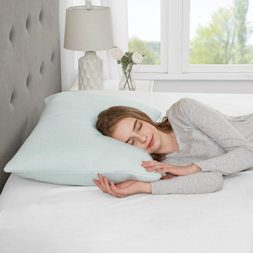 Bamboo Memory Foam Pillow w/Removable Cover - Medium Firmness (Bamboo-Pillow)