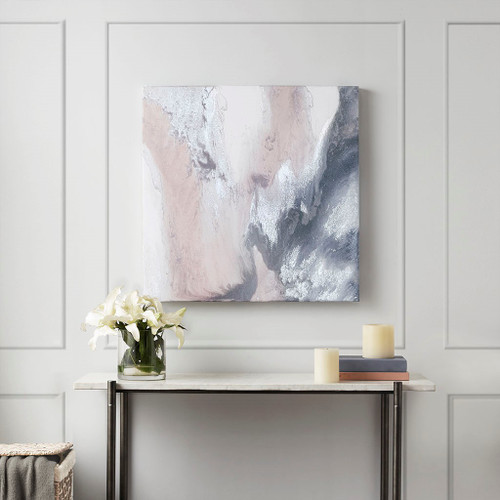 Blissful Blush Gel Coat Canvas with Silver Foil Embellishment (Blissful -Blush-Art)