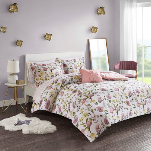 Ashley Blush Comforter and Sheet Set (Ashley -Blush-Comf)