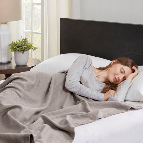 Grey Year Round High Quality Liquid Cotton Blanket (Liquid-Grey-blanket)