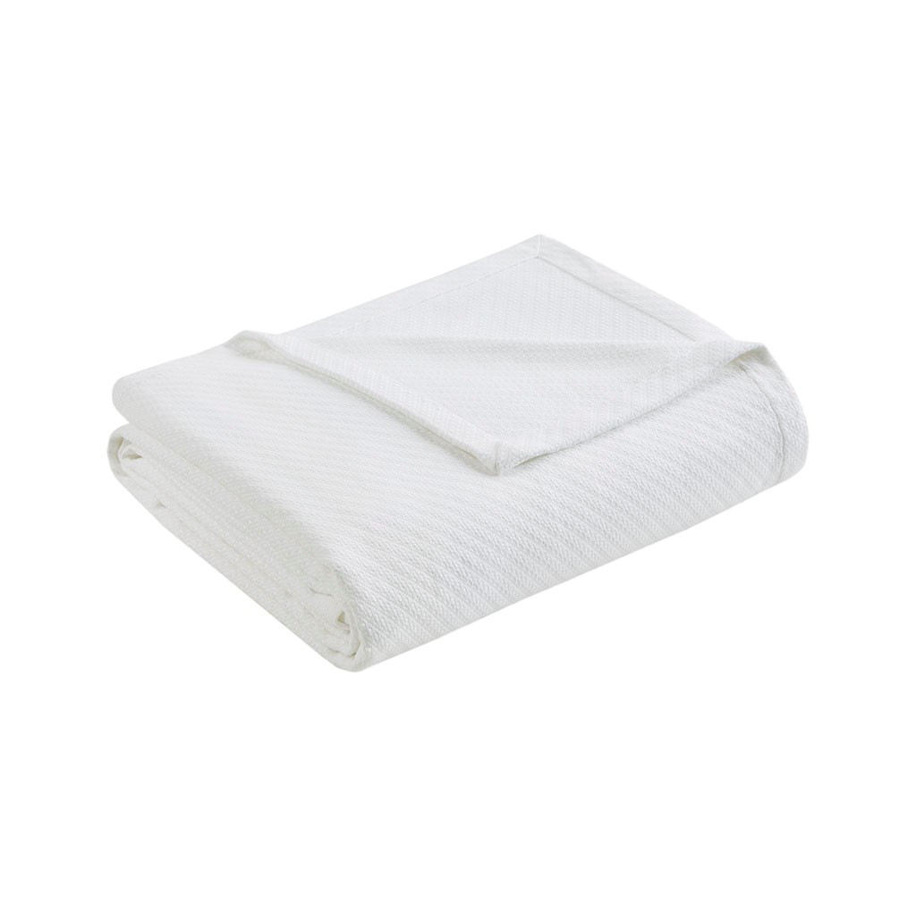 White Year Round High Quality Liquid Cotton Blanket (Liquid-White-blanket)