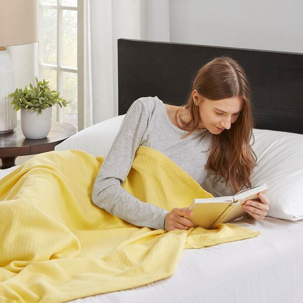 Yellow Year Round High Quality Liquid Cotton Blanket (Liquid-Yellow-blanket)