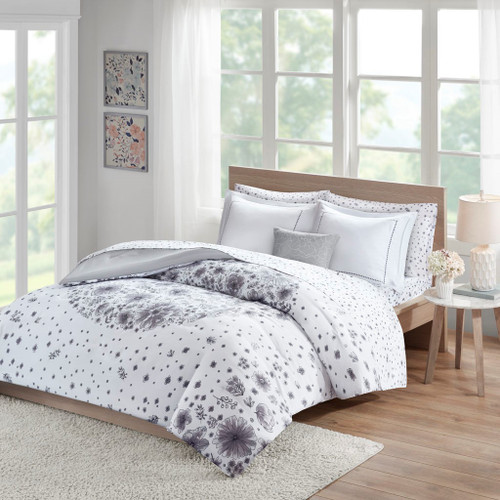 Emma Grey Comforter and Sheet Set Comforter and Sheet Set (Emma -Grey-Comf)