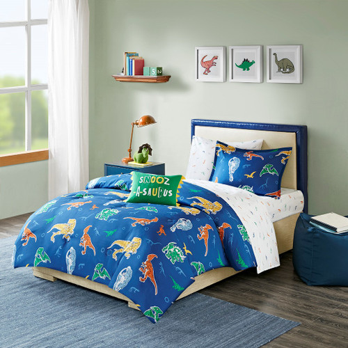 Logan Blue Complete Bed and Sheet Set (Logan -Blue-Comf )