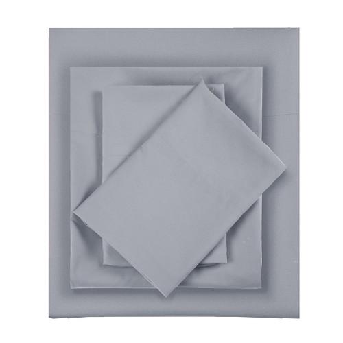 3pc Grey Microfiber All Season Wrinkle-Free Sheet Set - TWIN (675716526023)