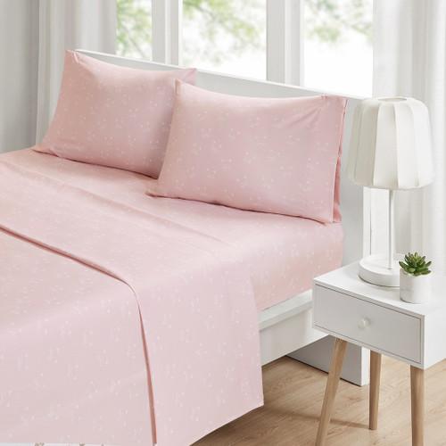 4pc KING Pink Cats Novelty Printed Sheet Set (086569154743)