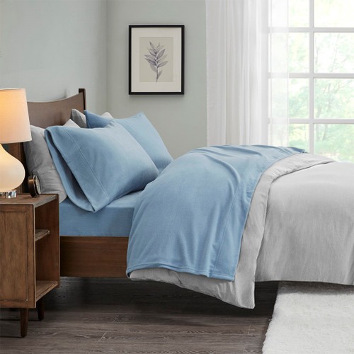 Blue Micro Fleece Ultra-Soft Sheet Set (Micro Fleece-Blue)