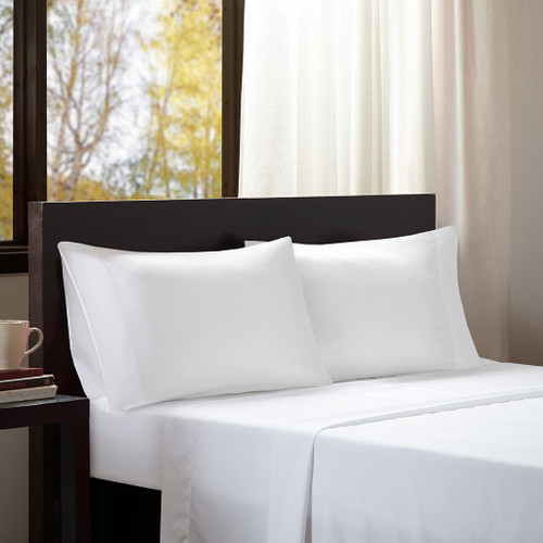 4pc FULL White Microfiber All Season Wrinkle-Free Sheet Set (675716526214)
