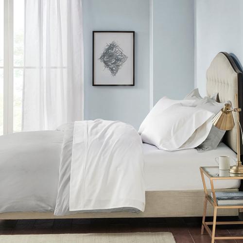 4pc Solid White 600TC Pima Cotton Sheet Set (600 Thread Count Pima-White)