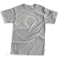 Circular Mantra T-shirt, Gray Heather
