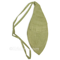 X-Large Khadi Bead Bag, Pocket, Green