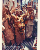 "Srila Prabhupada Photo, Manor, Deity Installation, 8""x10"""
