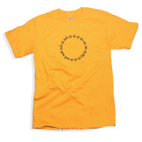 Circular Mantra T-Shirt, Gold