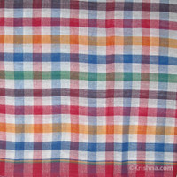 Cotton Bengali Gamcha, Multi Color Squares