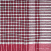 Cotton Bengali Gamcha, Maroon, Black & White
