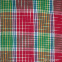 Cotton Bengali Gamcha, Multi Colored Plaid