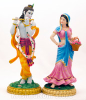 "Radha Madan Mohan Figurine Set, 13"""