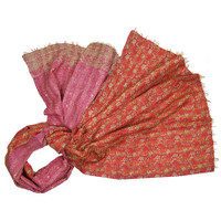 Heirloom Kantha Wrap, Chandan