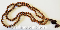 Polished Sandalwood Japa Mala, Medium