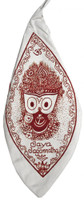 Medium Jagannatha Bead Bag, White
