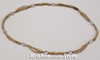 Triple Strand, Extra Thin Natural Tulasi Neck Beads, Clear