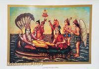 Lord Vishnu & Lakshmi Devi Poster, Large