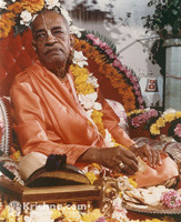 "Srila Prabhupada Photo, With a Cookie, 11""x 14"""