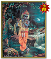 Krishna the Enchanter Poster, Small