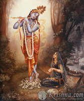 "Radha Worshiping Krishna, Photo Prints, 11""X14"""